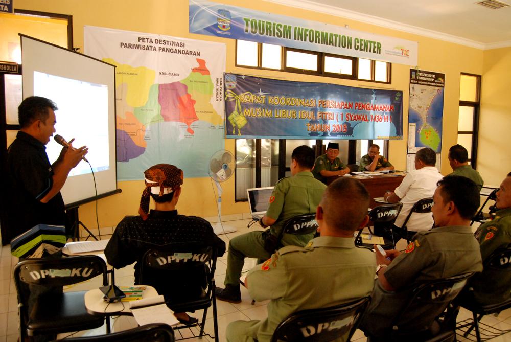 Rencana Pengamanan Libur Hari Raya Idul Fitri Pangandaran 2015