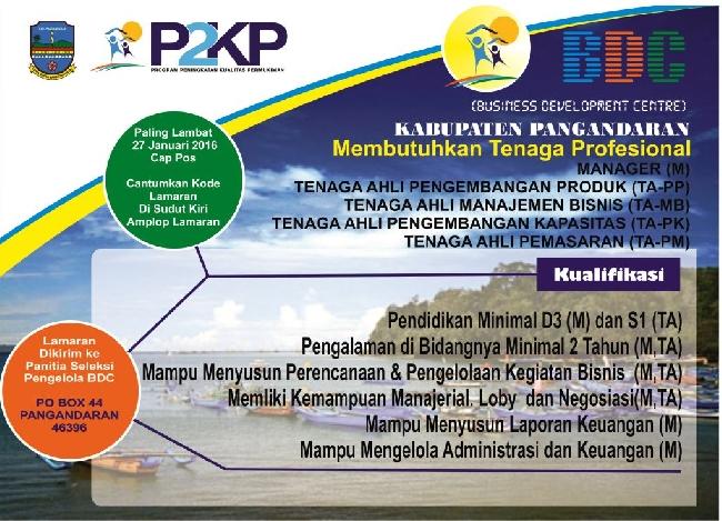BDC Kabupaten Pangandaran Buka Lowongan Kerja