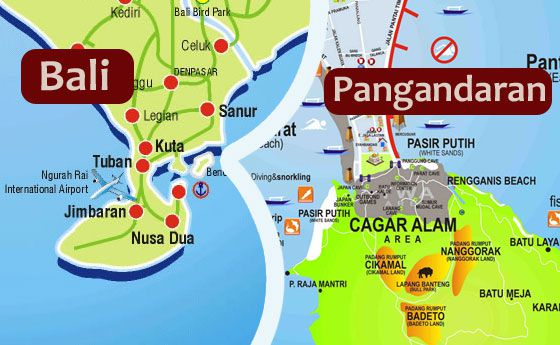 7 Hal Pangandaran Mirip Bali Gambar Peta Jelas