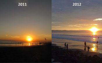 Menyaksikan Sunset Terakhir di 2011 dan Sunrise Pertama di 2012 di Pangandaran