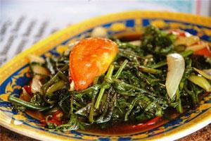 Pakis Campur Kecombrang, Catatan Kuliner Purba