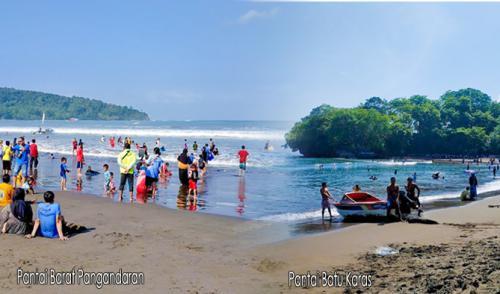 2 Pantai di Pangandaran Yang diperbolehkan Untuk Aktifitas Berenang