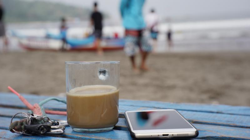 Cukup Secangkir Kopi, Untuk Menikmati Pantai Pangandaran