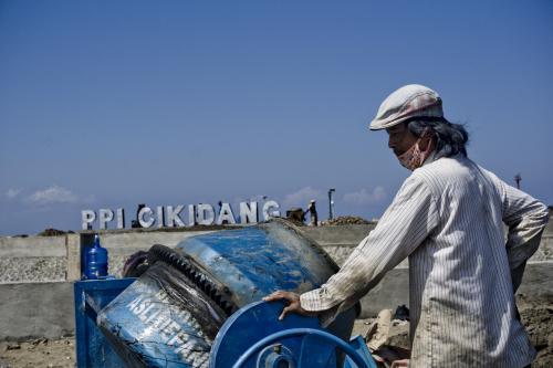Intip Pembangunan Landscape PPI CIKIDANG Pangandaran