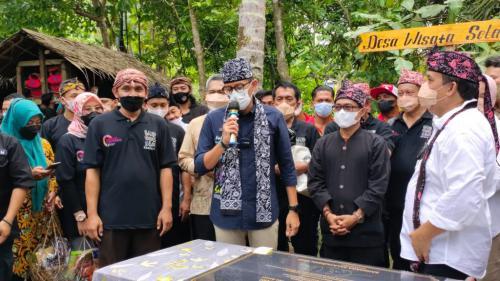 Masuk 50 Besar Desa Wisata Di Ajang ADWI 2021, Menteri Pariwisata Sandiaga Uno Kunjungi Desa Wisata Selasari