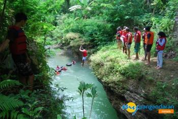 Rafting Goa Lanang, Wisata Air di Pangandaran Selain Pantai