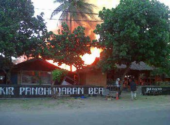Kebakaran Cafe di Pangandaran