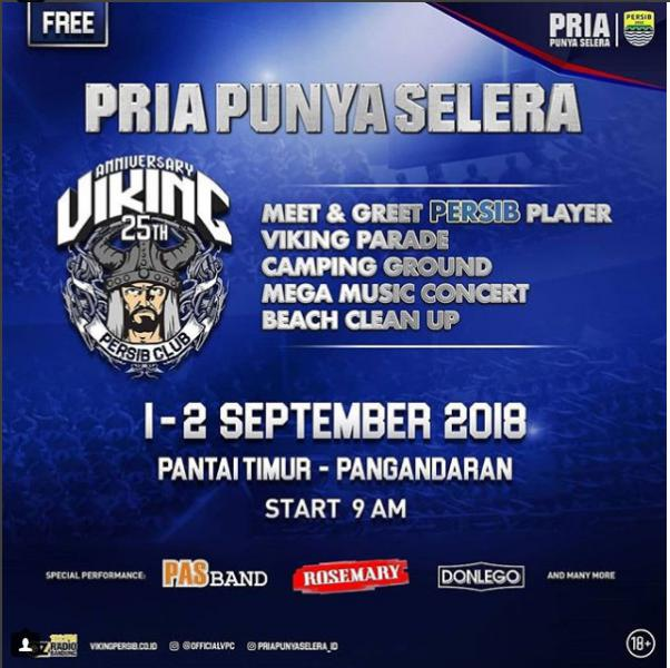 Anniversary 25th Viking Persib Club di Pangandaran