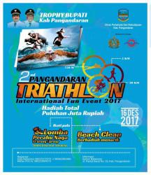 Kejuaraan Pangandaran Triathlon diakhir 2017