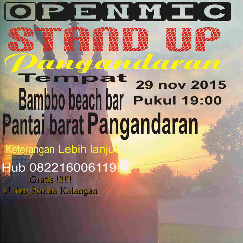 Open Mic Stand Up Pangandaran