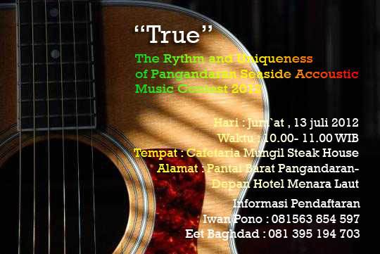 The Rythm and Uniqueness of Pangandaran Seaside Accoustic Music Contest 2012