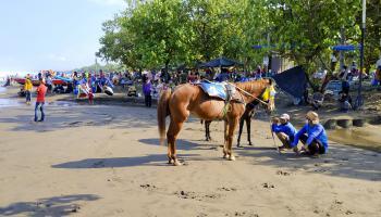 Aktifitas Para Pengunjung dan Pelaku Wisata Pantai Barat Pangandaran