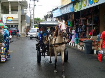 Potret Suasana Jalan E. Jaga Lautan Pantai Timur Pangandaran
