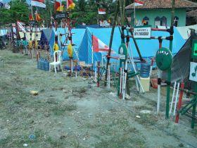 Kegiatan Lomba Tingkat II Kwarting Pangandaran Di Pelabuhan Cikidang