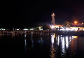 Pantai Timur Pangandaran di Malam Hari