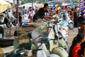 Potret Event 19th Annivesary Vespa Antique Club di Pangandaran