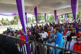 Penonton Grand Final Danggut Pangandaran 2014