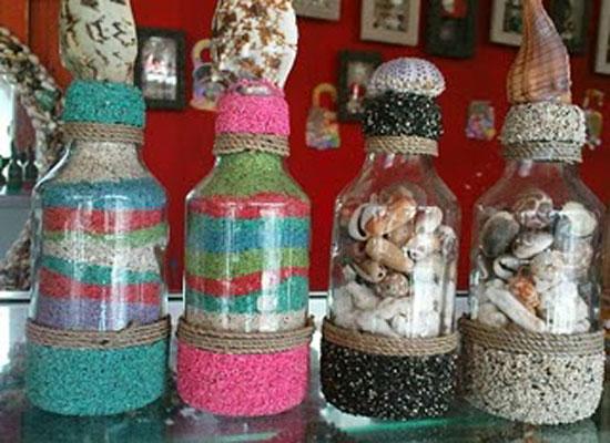 Lengkapi koleksi di rumah anda dengan meletakan botol berisi kerang ...