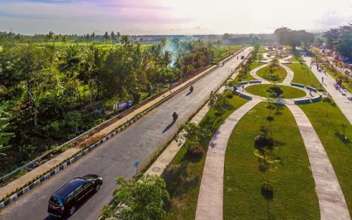 Foto Panorama 360 Taman Pesona Ini Bikin Kangen Pangandaran