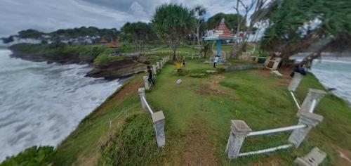 Panorama 360 Bukit Batu Hiu Pangandaran