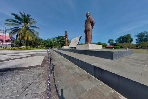 Potret 360 Tugu Proklamasi Lapang Merdeka Pangandaran