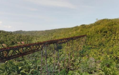 Potret Jembatan Cikacepit Pangandaran dalam Photo 360