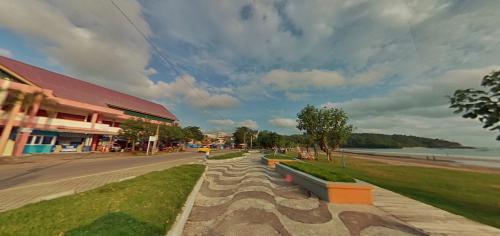 Potret Panorama 360 Taman Pantai Barat Pangandaran