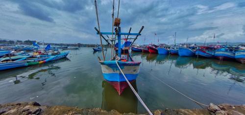 Potret Panorama 360 Pelabuhan PPI Cikidang Pangandaran