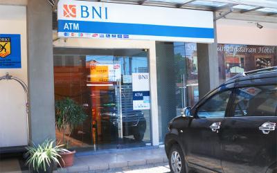 ATM BNI depan  Hotel Sun In Pangandaran