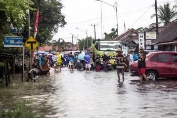 Akibat Hujan Lebat Kecamatan Cijulang Banjir
