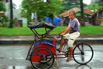 Becak di Pangandaran