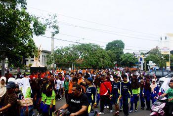 Jalan Sehat Bersama PGRI Pangandaran