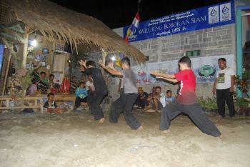 Latihan Pasanggiri Pencak Silat Jawara Pakidulan Pangandaran 2014