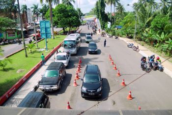 Pangandaran Ramai di Kunjungi Wisatawan Lokal