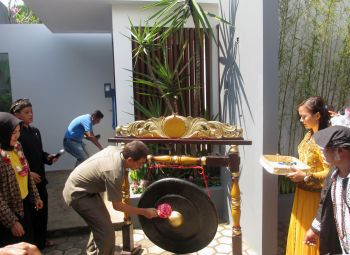 Pembukaan Villa Intan Pangandaran oleh Bupati Pangandaran