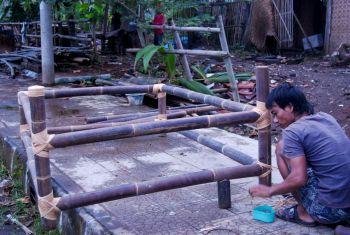 Pengrajin Bambu Pangandaran