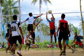 Pertandingan Voley Ball Jaya Surya