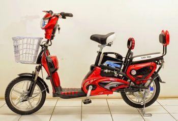 Sepedah Listrik Menjamur di Pangandaran