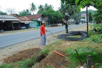 Pemasangan Kabel Fiber Optik