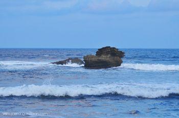 Sirip Ikan Hiu di Pantai Batu Hiu