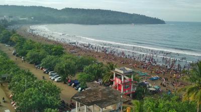 Potret Pantai Pangandaran diawal Tahun 2019