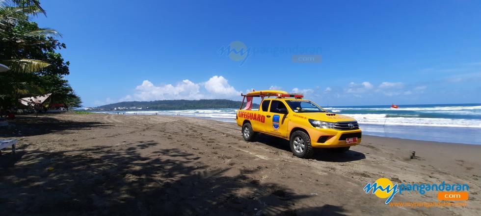 Potret Patroli Mobil Balawista Pangandaran