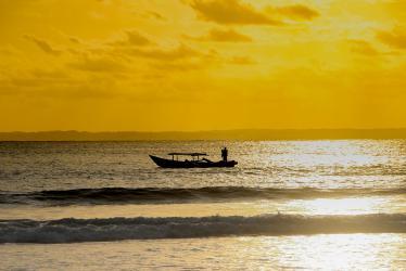 Senja Nan Indah di Pantai Barat Pangandaran
