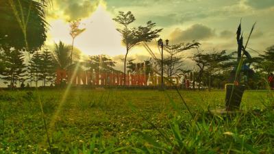 Taman Pangandaran Sunset Menjelang Senja