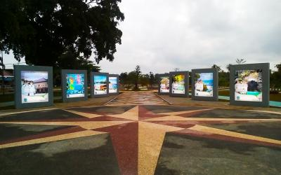 Wow, Taman di Selatan Pasar Pangandaran Ini Makin Cantik